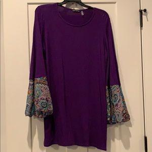 Purple Bell sleeve tunic